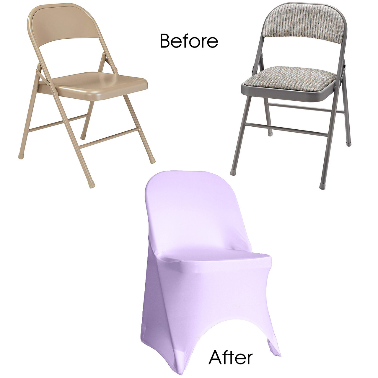 Wondrous Stretch Spandex Folding Chair Cover Lavender Gmtry Best Dining Table And Chair Ideas Images Gmtryco