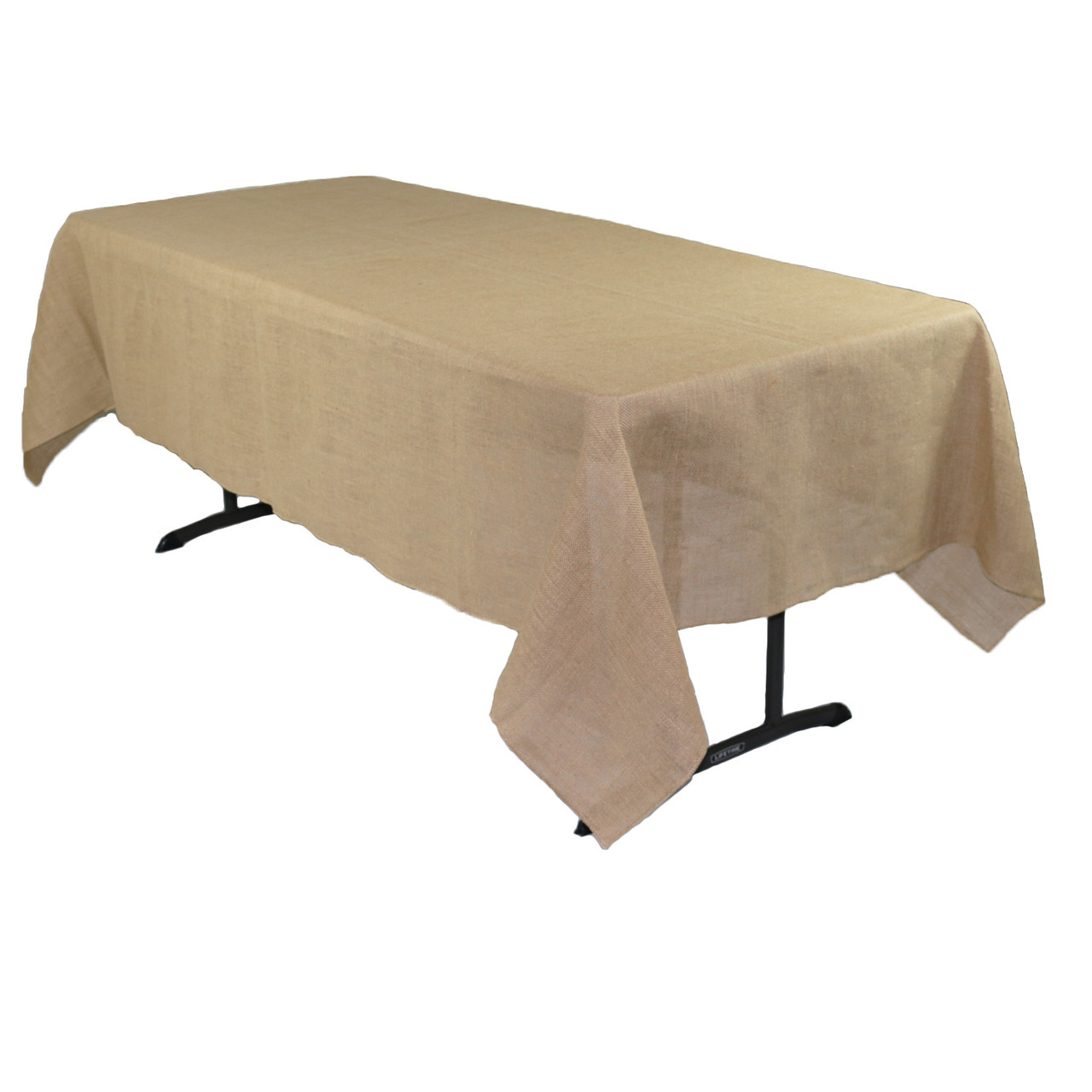 60 X 102 Inch Rectangular Burlap Tablecloth Your Chair Covers Inc
