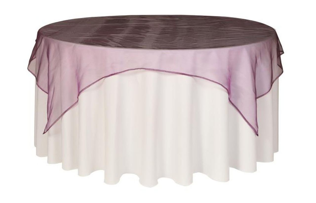 Astonishing 90 Inch Square Organza Table Overlay Eggplant Forskolin Free Trial Chair Design Images Forskolin Free Trialorg