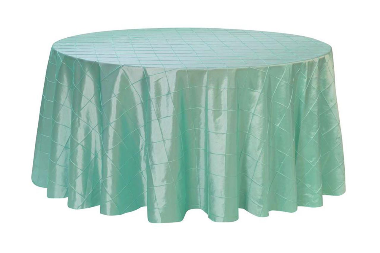 120 Inch Pintuck Taffeta Round Tablecloths Tiffany ...