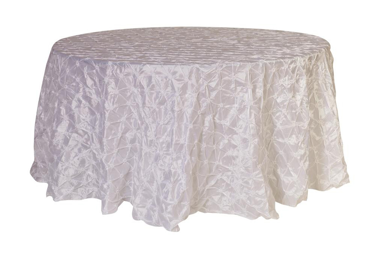 Sensational 120 Inch Pinwheel Pinched Taffeta Round Tablecloth White Interior Design Ideas Gentotryabchikinfo