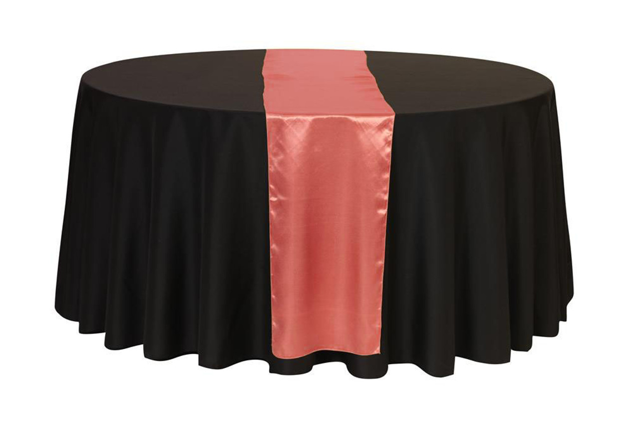 14 X 108 Inch Satin Table Runner Coral Your Chair Covers