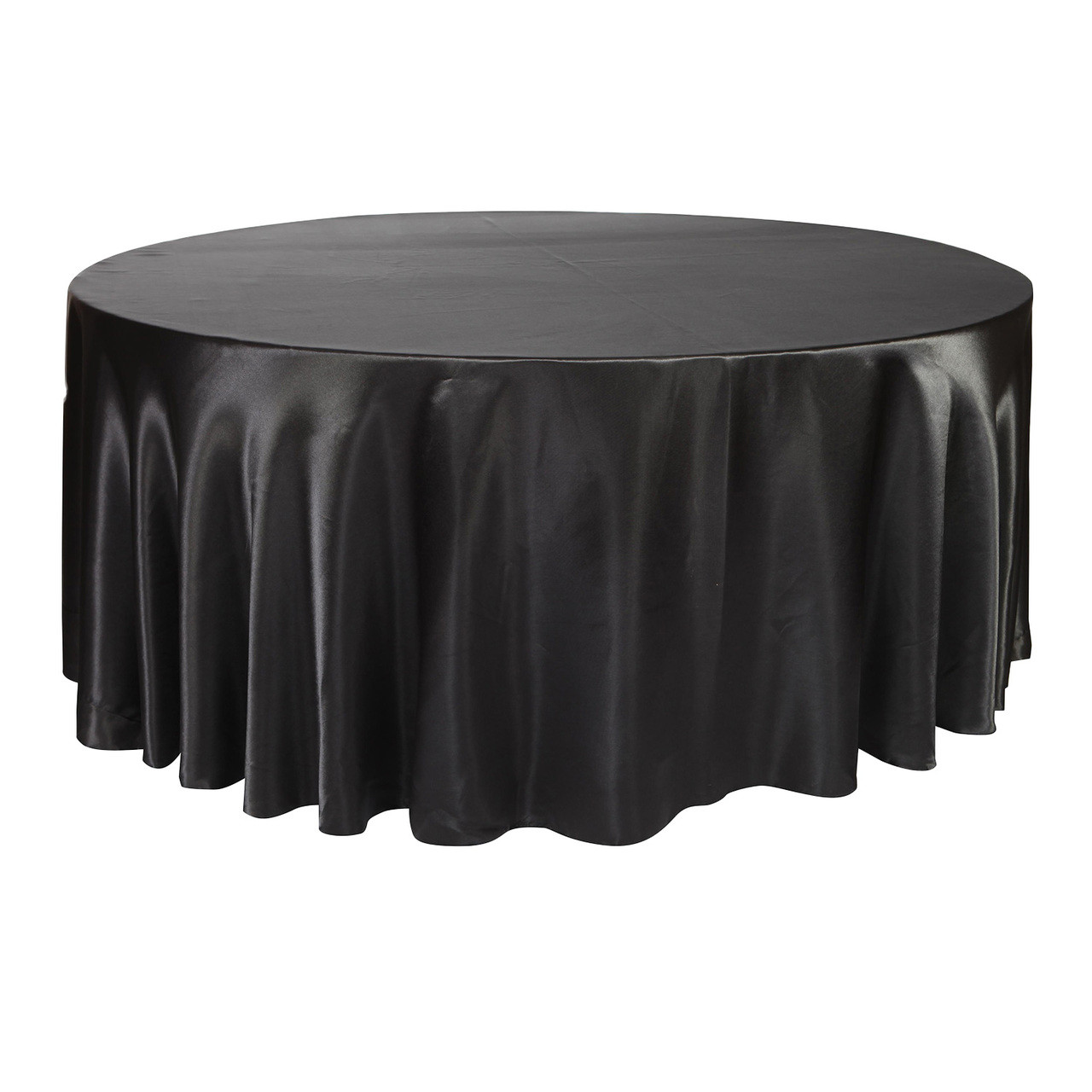 Enjoyable 132 Inch Round Satin Tablecloth Black Beatyapartments Chair Design Images Beatyapartmentscom