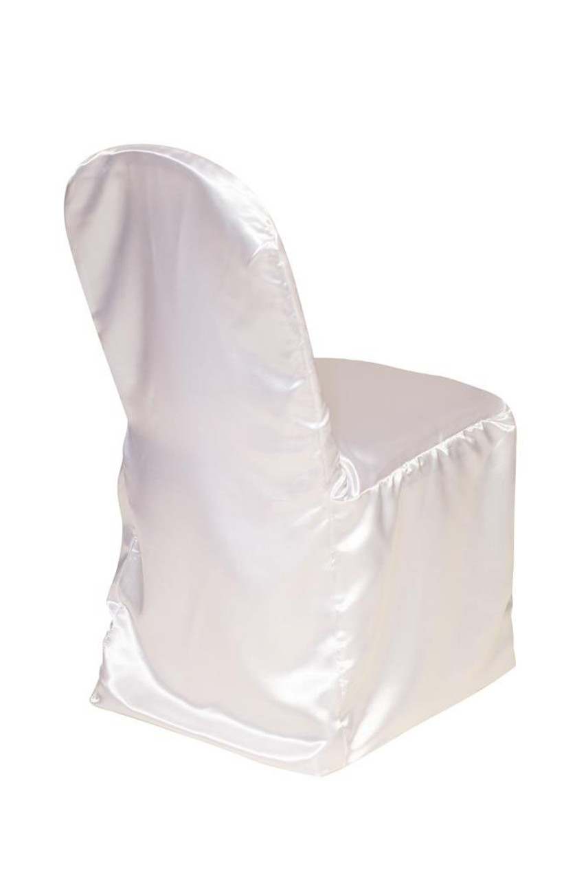 Stupendous Satin Banquet Chair Cover White Inzonedesignstudio Interior Chair Design Inzonedesignstudiocom