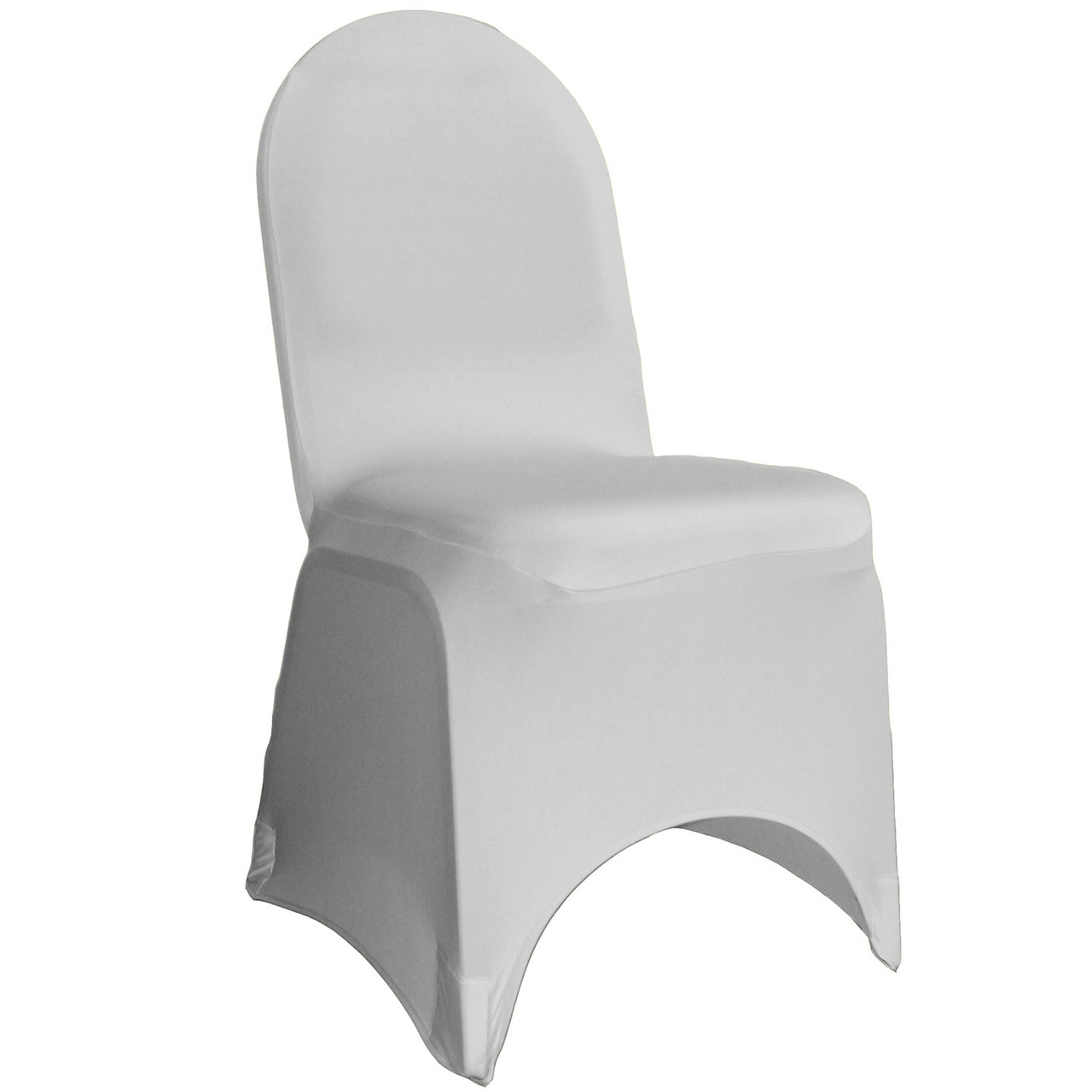 Enjoyable Stretch Spandex Banquet Chair Cover Silver Inzonedesignstudio Interior Chair Design Inzonedesignstudiocom