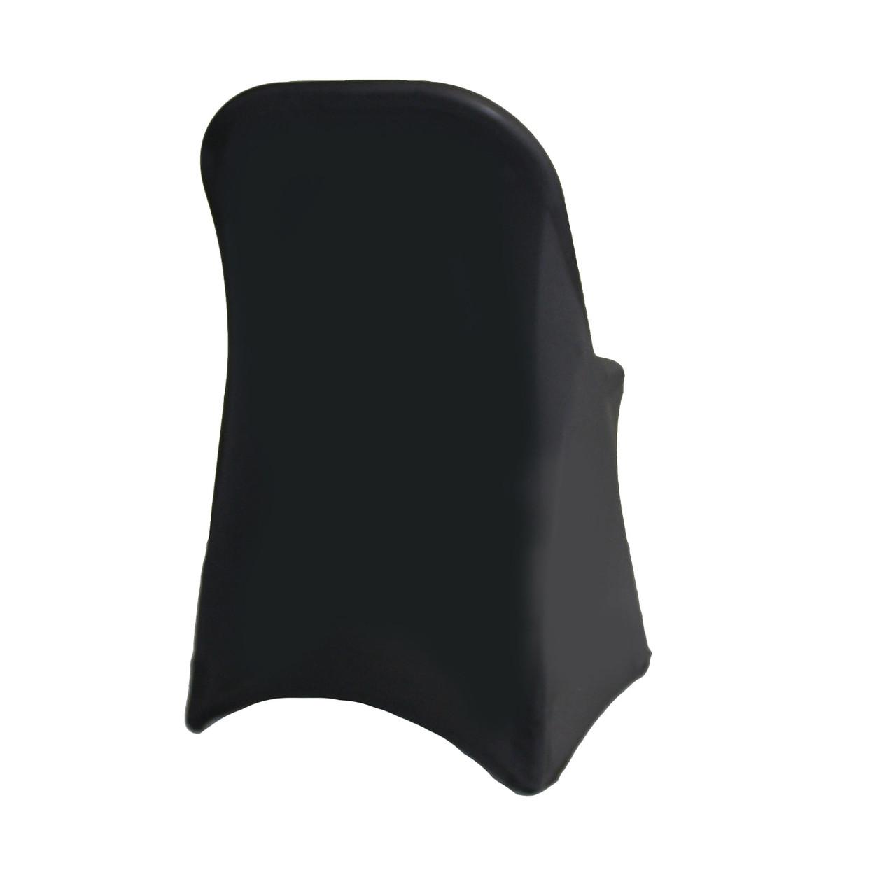 Pleasing Stretch Spandex Folding Chair Cover Black Bralicious Painted Fabric Chair Ideas Braliciousco