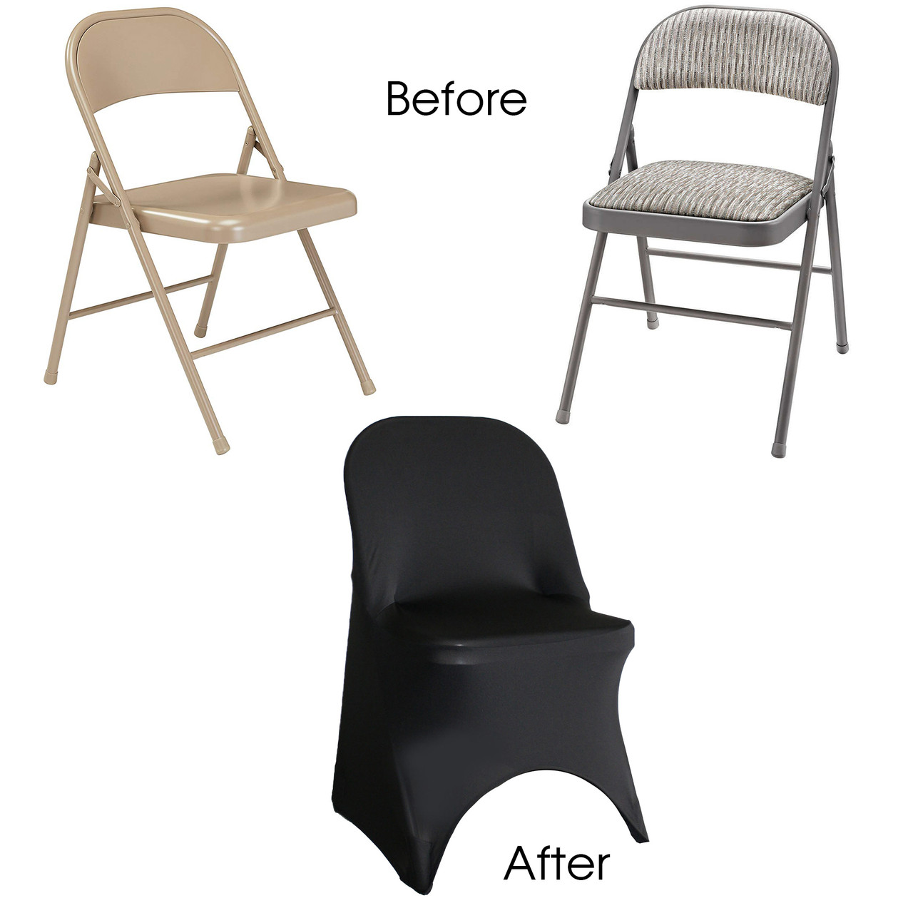 Stretch Spandex Folding Chair Cover Black Your Chair