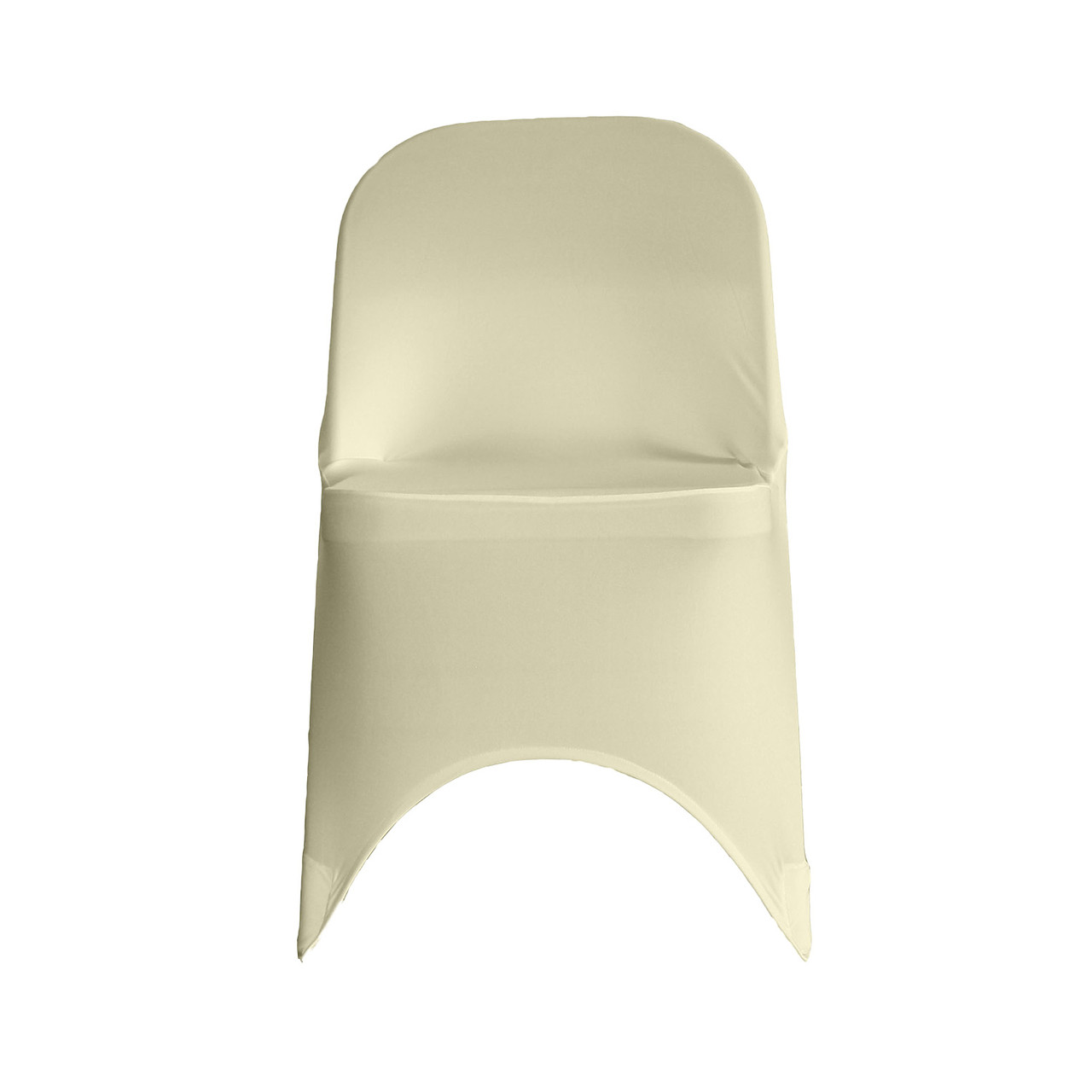 Remarkable Stretch Spandex Folding Chair Cover Ivory Gmtry Best Dining Table And Chair Ideas Images Gmtryco