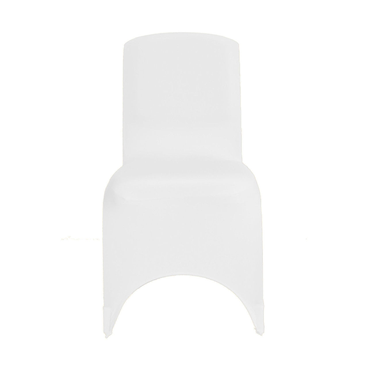 Square Top Stretch Spandex Banquet Chair Cover White