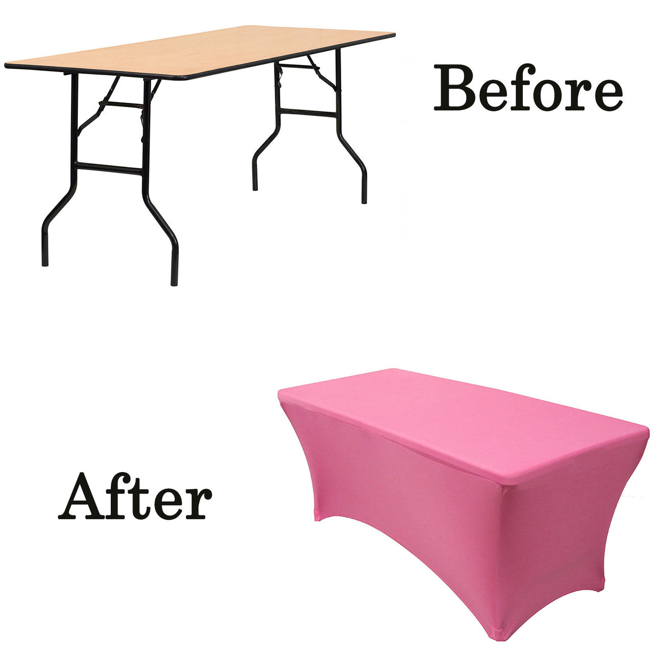 Stretch Spandex 6 Ft Rectangular Table Cover Fuchsia Fuchsia Lifetime Folding Table Covers Fuchsia Wood Folding Table Covers