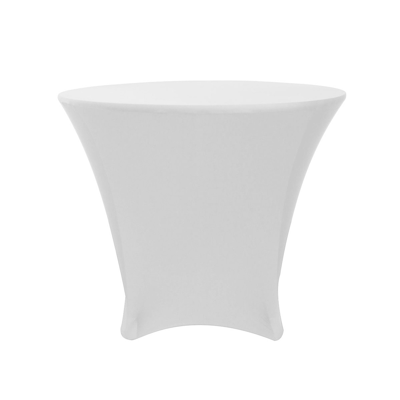 36 x 30 inch Lowboy Cocktail Round Stretch Spandex Table Covers White ...  sc 1 st  Your Chair Covers & 36 x 30 Inch Lowboy Cocktail Round Stretch Spandex Table Cover White ...