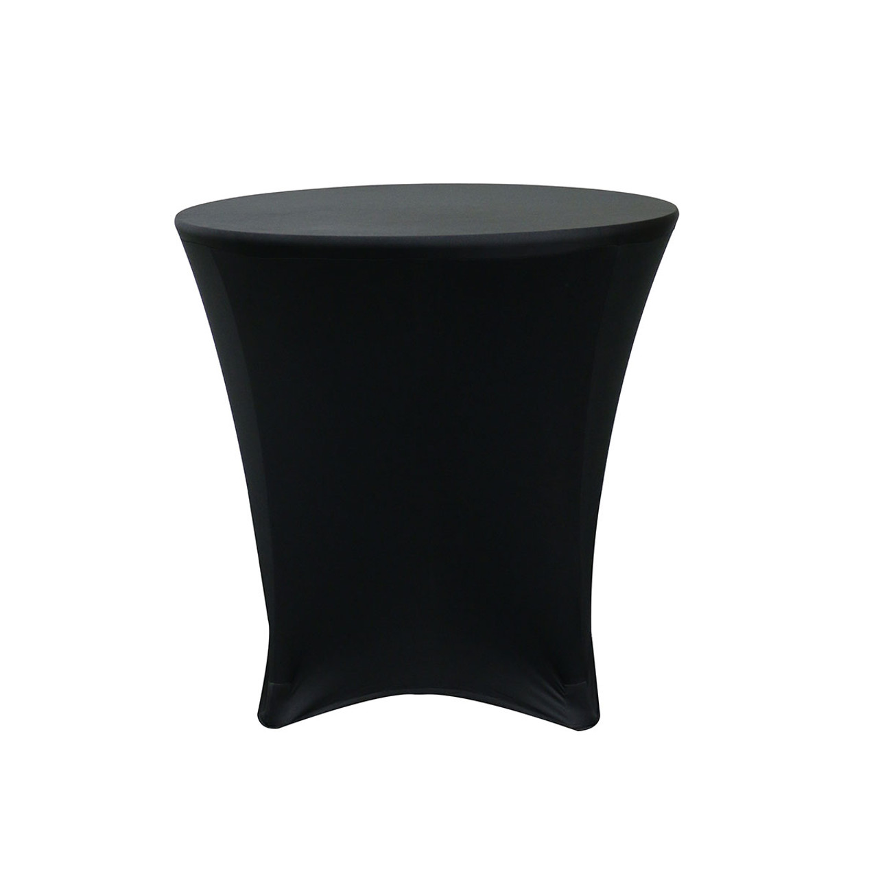 30 X 30 Inch Lowboy Cocktail Round Stretch Spandex Table Cover Black