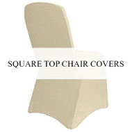 Square Top Chair Covers