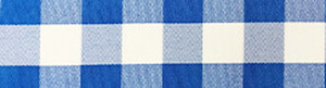 Checkered Royal Blue Table Linens