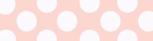 Blush and White Polka Dot