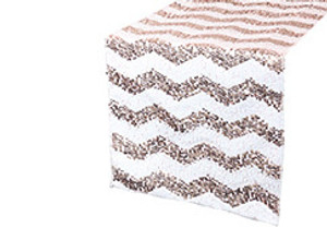 Chevron Sequin Table Runners