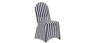 Spandex Striped Chair Covers