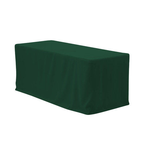 6 ft. Fitted Polyester Tablecloth Rectangular Hunter Green