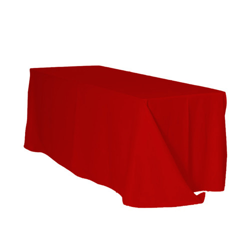 90 x 132 inch Rectangular Polyester Tablecloth Red