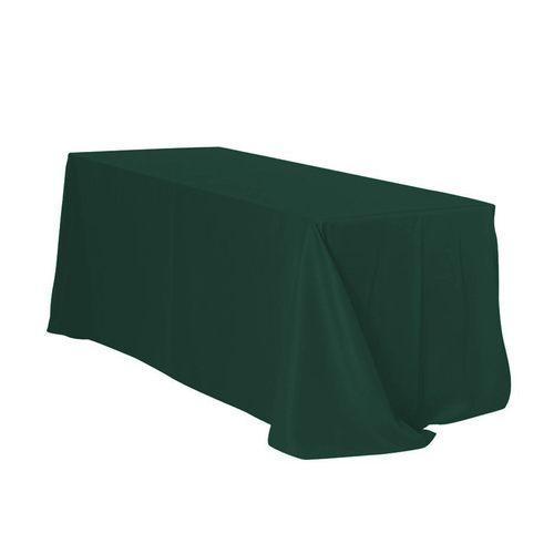 90 x 132 inch Rectangular Polyester Tablecloth Hunter Green