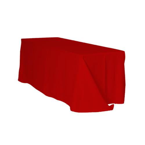 90 x 156 Inch Rectangular Polyester Tablecloth Red
