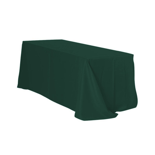 90 x 156 Inch Rectangular Polyester Tablecloth Hunter Green