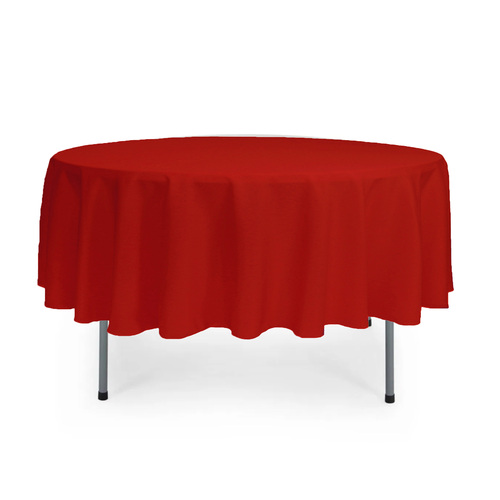 90 inch Round Polyester Tablecloth Red