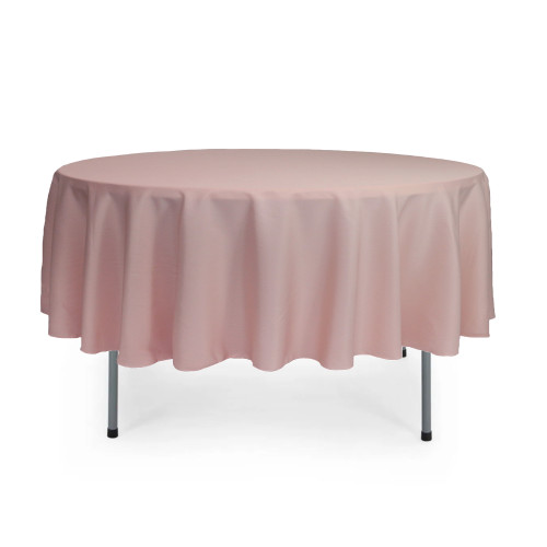 90 inch Round Polyester Tablecloth Blush