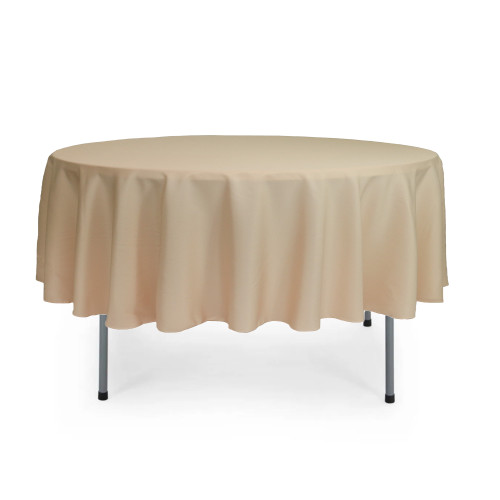 90 inch Round Polyester Tablecloth Champagne
