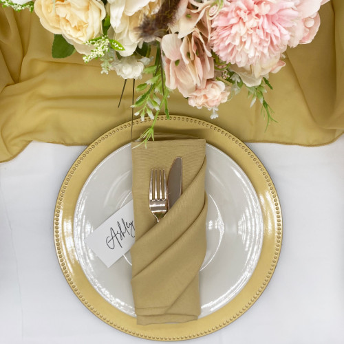 champagne wedding napkins