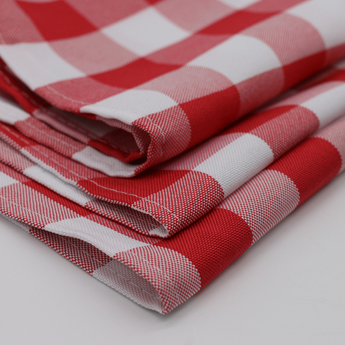Polyester Checkered Red
