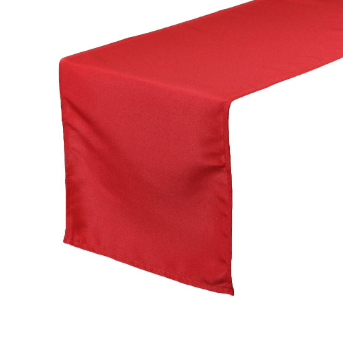 14 x 108 inch Polyester Table Runner Red