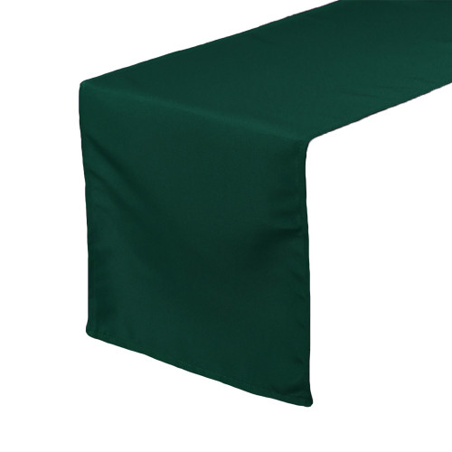 14 x 108 inch Polyester Table Runner Hunter Green