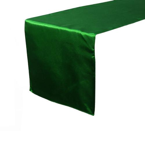 14 x 108 inch Satin Table Runner Hunter Green