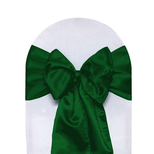 Satin Sashes Hunter Green