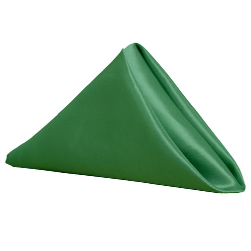 20 inch Satin Cloth Napkins Hunter Green