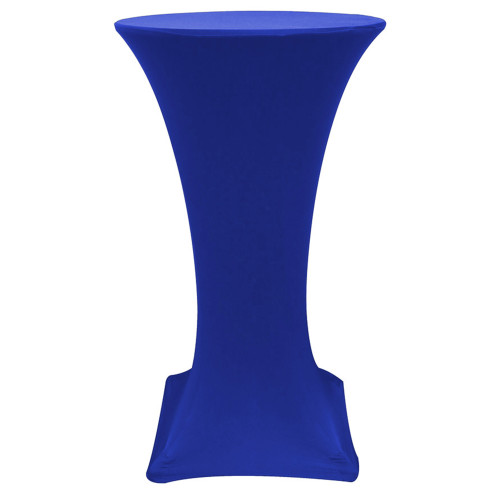 24 inch Highboy Cocktail Round Stretch Spandex Table Cover Royal Blue