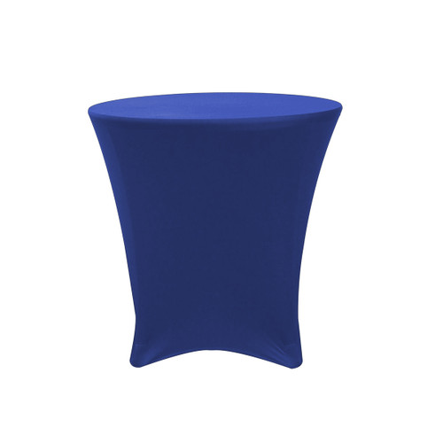 30 x 30 inch Lowboy Cocktail Round Stretch Spandex Table Cover Royal Blue