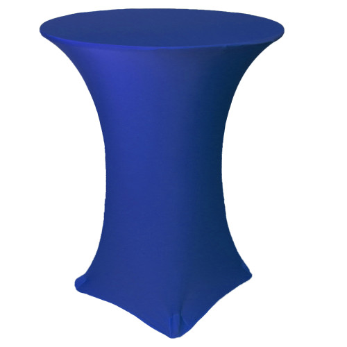 36 inch Highboy Cocktail Round Stretch Spandex Table Cover Royal Blue