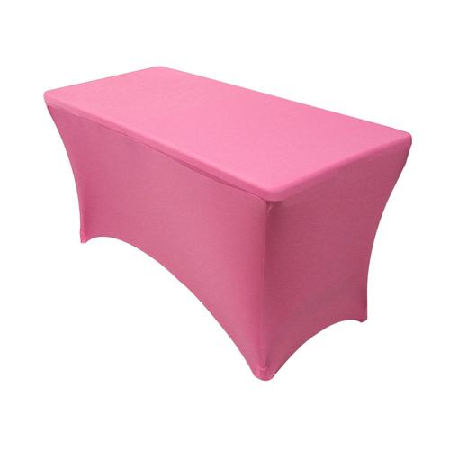 Spandex 4 Ft Rectangular Table Cover Fuchsia