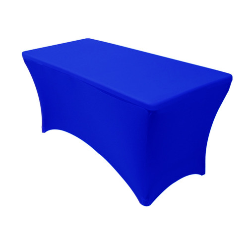 Stretch Spandex 4 ft Rectangular Table Cover Royal Blue