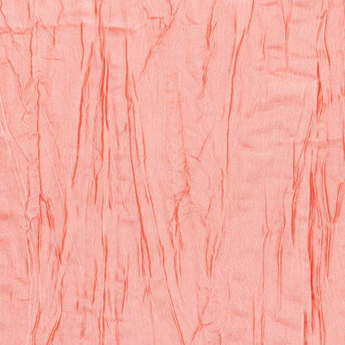90 x 132 Inch Rectangular Crinkle Taffeta Tablecloth Coral