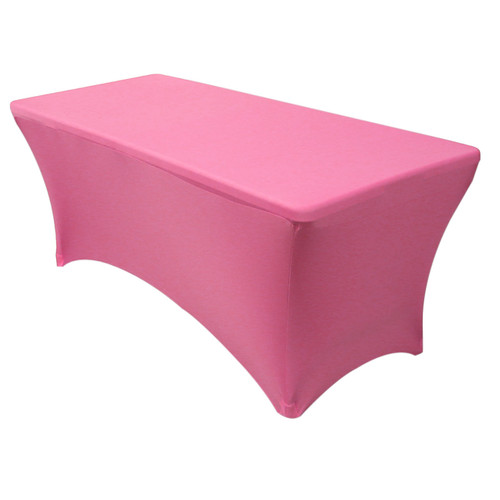 Stretch Spandex 8 ft Rectangular Table Cover Fuchsia