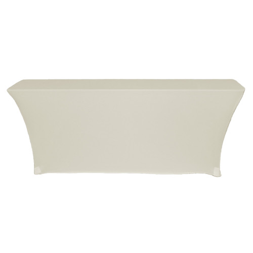Open Back Rectangular Table Cover Ivory