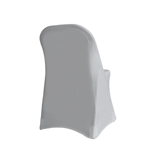 Stretch Spandex Folding Chair Cover Silver For Weddings