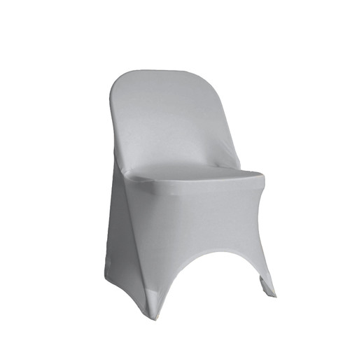 Stretch Spandex Folding Chair Cover Silver
