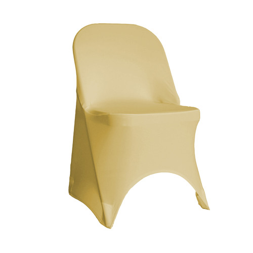 Stretch Spandex Folding Chair Cover Champagne
