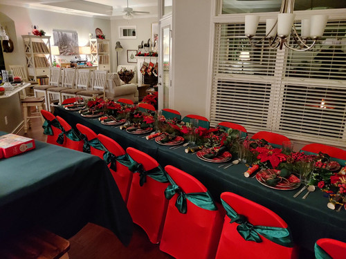 Christmas red chair covers