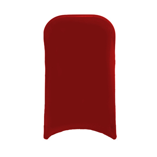 Stretch Spandex Folding Chair Cover Red For Hotels