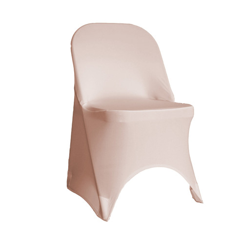 Stretch Spandex Folding Chair Cover Blush